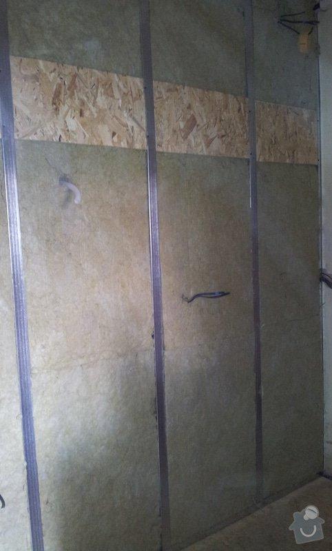 Odhlučnění stěny a podhledy s izolací: 20120528_145537