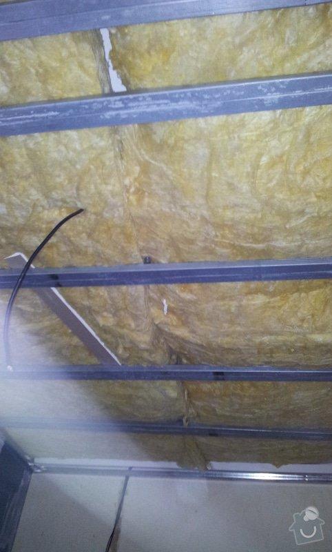 Odhlučnění stěny a podhledy s izolací: 20120529_094049