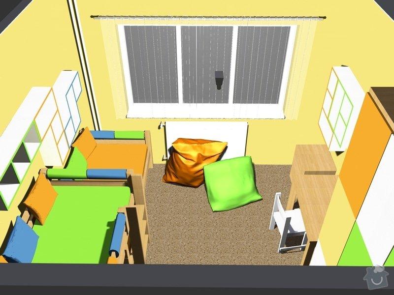 Návrh dětského pokoje: Z_vrchu