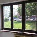 Tri plastova okna okna barva bila