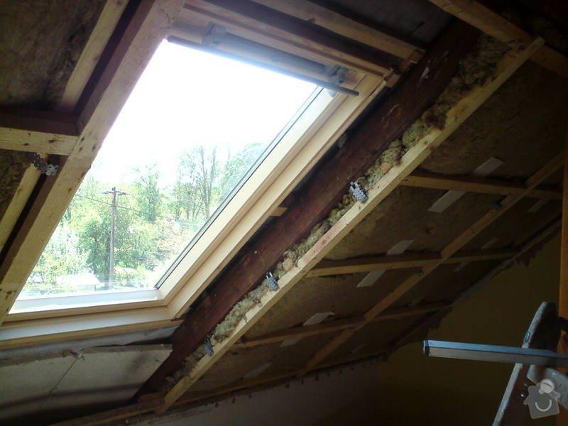 Montáž střešního okna + obklad ze sádrokartonu: sadrokarton_013