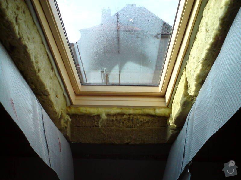 Montáž střešního okna + obklad ze sádrokartonu: sadrokarton_015