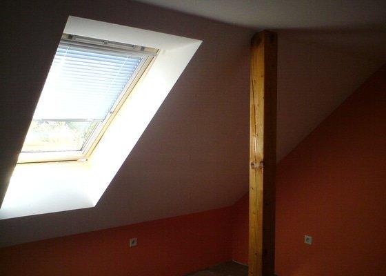 Montáž střešního okna + obklad ze sádrokartonu
