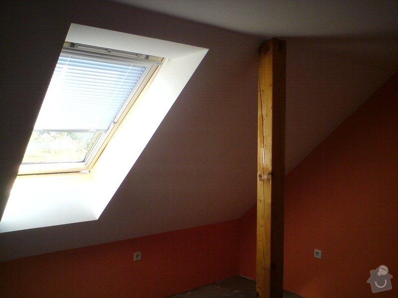 Montáž střešního okna + obklad ze sádrokartonu: sadrokarton_032