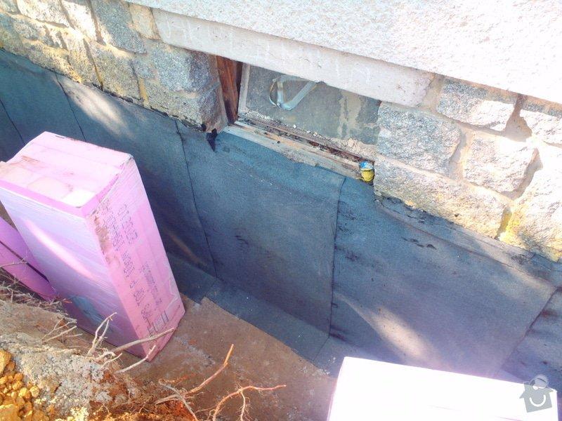 Drenáž podsklepeného domu, terénní úpravy: P5140758