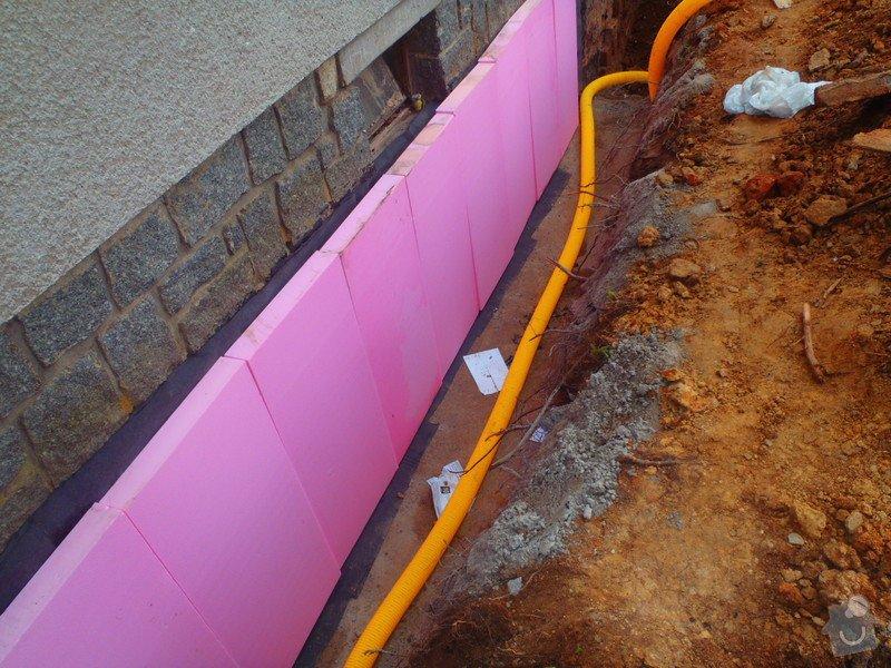 Drenáž podsklepeného domu, terénní úpravy: P5140778