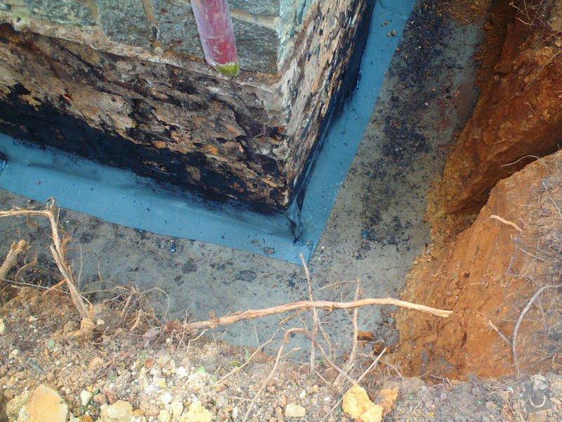Drenáž podsklepeného domu, terénní úpravy: P5110745