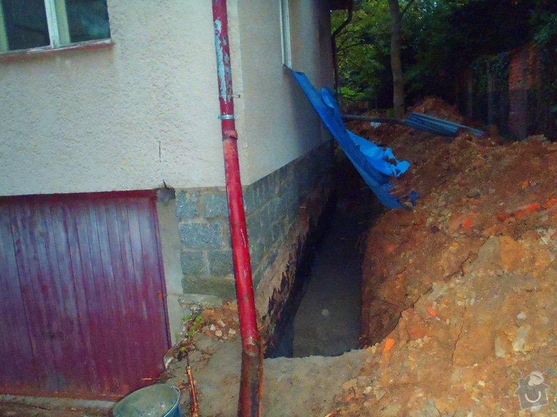 Drenáž podsklepeného domu, terénní úpravy: P5120754
