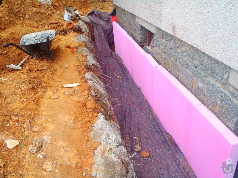 Drenáž podsklepeného domu, terénní úpravy: P5140780