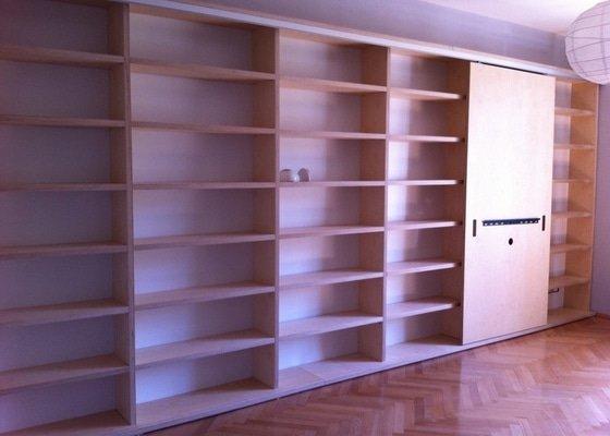 Výroba atypické knihovny na přání