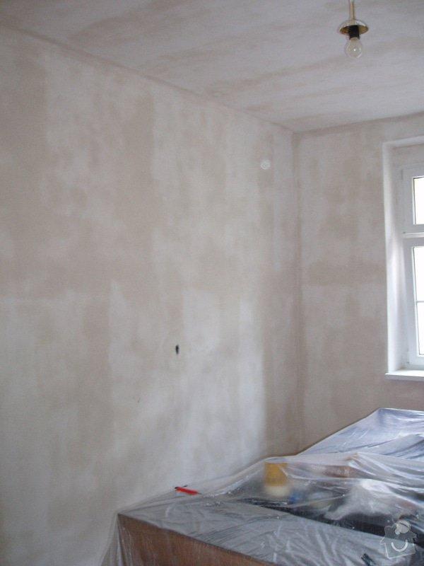 Malování (2 pokoje), štukování cca 3 m2: 002