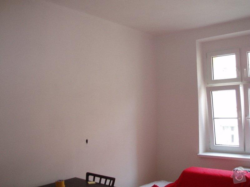 Malování (2 pokoje), štukování cca 3 m2: 007