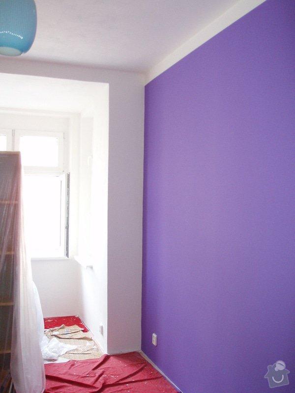 Malování (2 pokoje), štukování cca 3 m2: 009