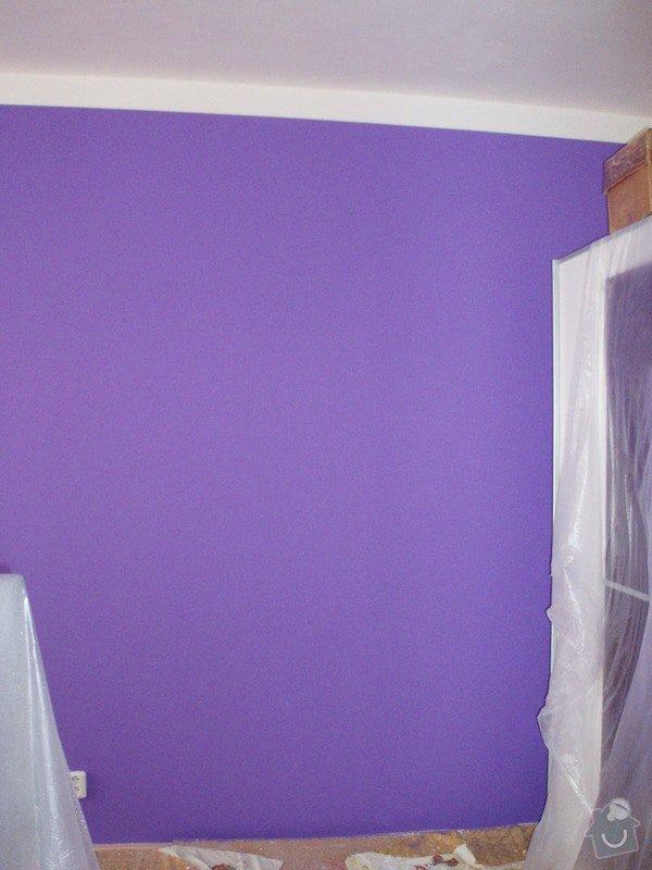 Malování (2 pokoje), štukování cca 3 m2: 012