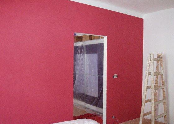 Malování (2 pokoje), štukování cca 3 m2
