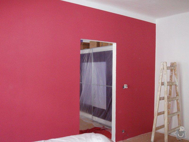 Malování (2 pokoje), štukování cca 3 m2: 014