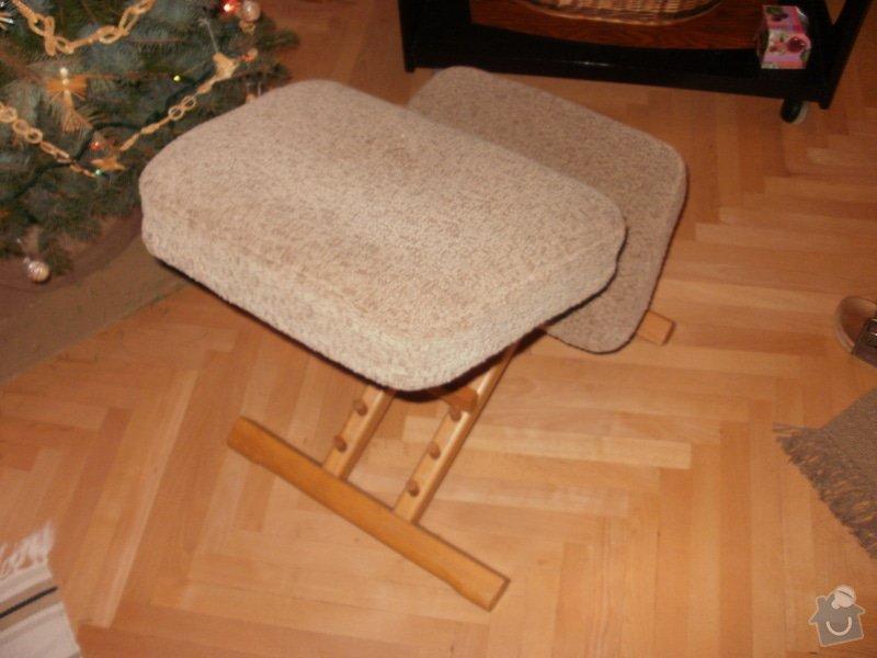 Přečalounění dřevěné klekačky: P1159554