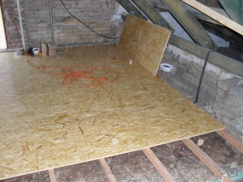 Zateplení podlahy v podkroví: SDC13331
