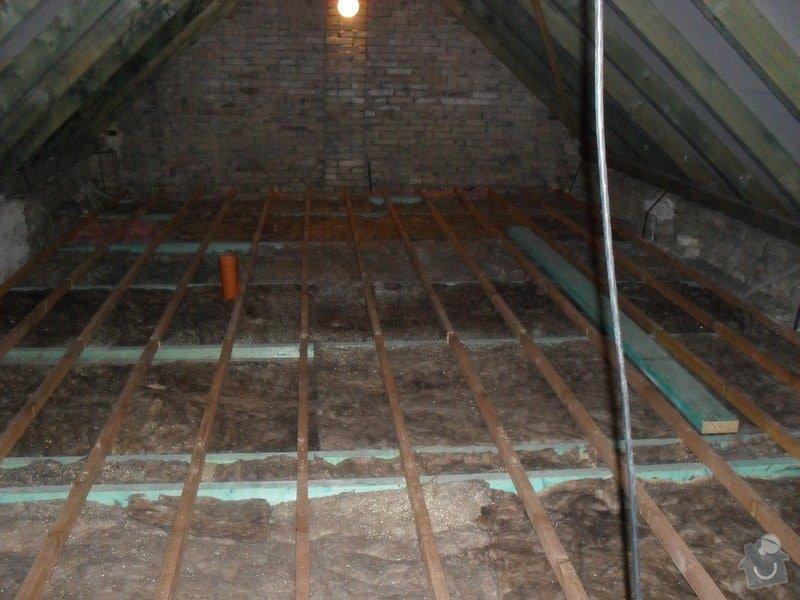 Zateplení podlahy v podkroví: SDC13328