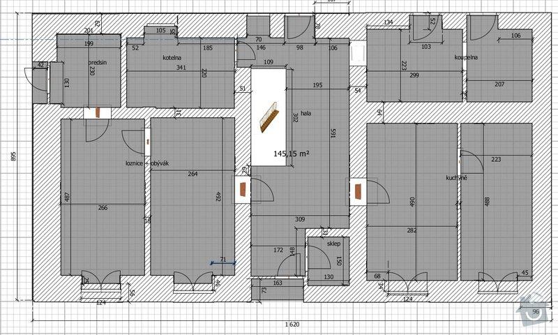 Rekonstrukce přízemí RD.: barak_spodek1