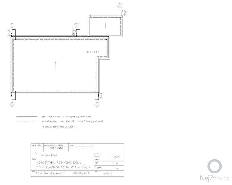 Dodávku a montáž hromosvodu: RD_Brezineves.4-Model