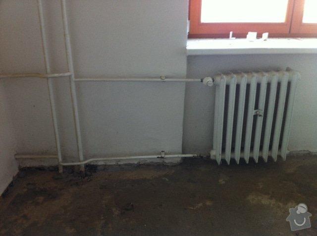 Výměna radiátorů (3 ks) v bytě v cihlovém domě: topeni