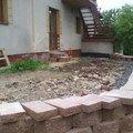 Pokladka zamkove dlazby na terasu terasa2