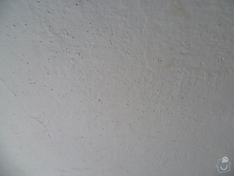 Příprava stropu pro malířské práce (2 pokoje): P1000619
