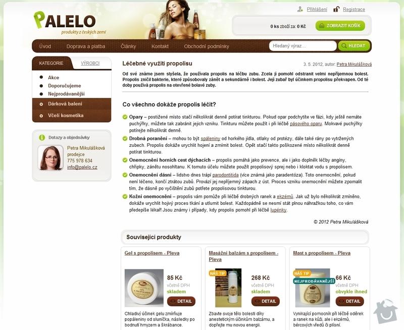 Tvorba e-shopu www.palelo.cz: Lecebne_vyuziti_propolisu_-_Palelo.cz