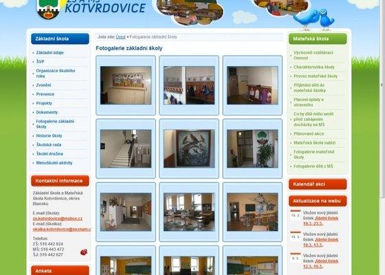 Tvorba www stránek pro školu ZŠ Kotvrdovice