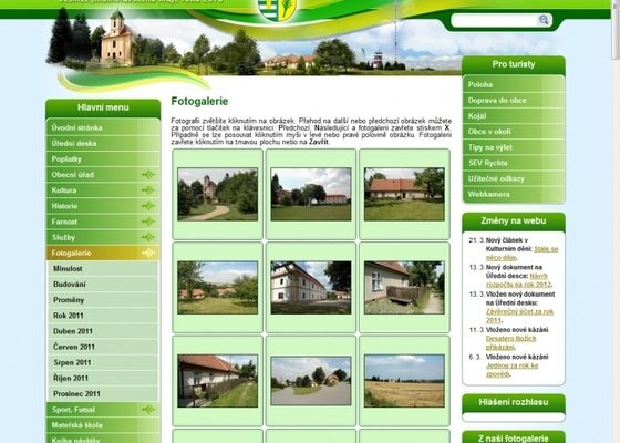 Tvorba www stránek pro obec Krásensko