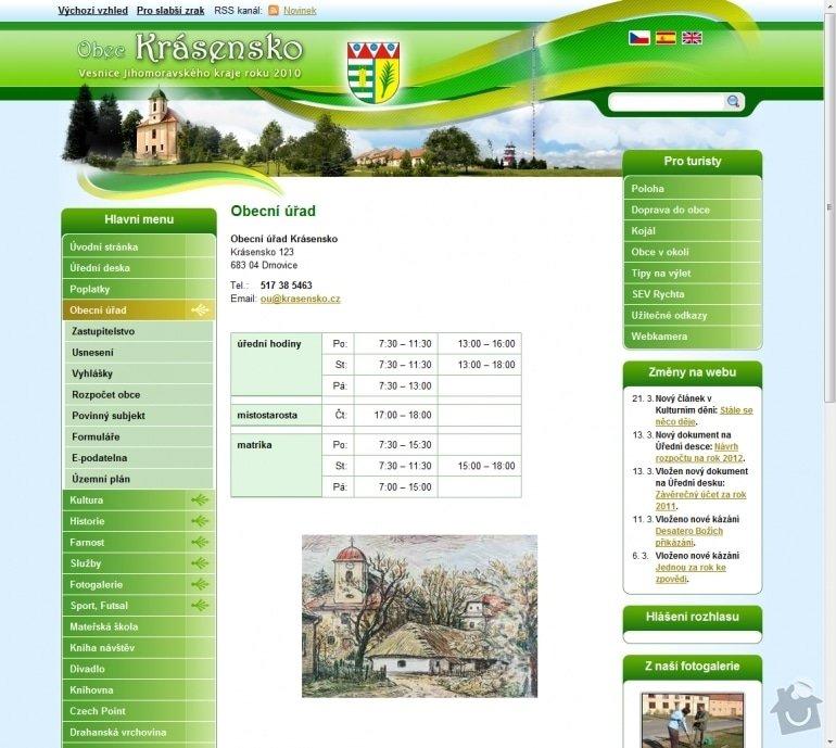 Tvorba www stránek pro obec Krásensko: 024-krasensko-obecni-urad-krasensko
