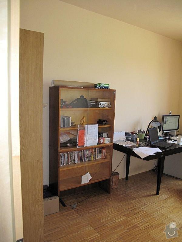 Nábytek do pracovny, v laminu.  Jedná se o skříně, stůl, police.: IMG_0244