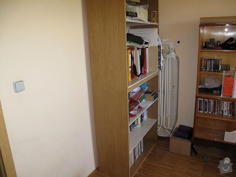 Nábytek do pracovny, v laminu.  Jedná se o skříně, stůl, police.: STA_0249