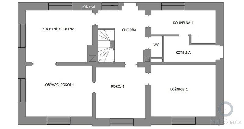 Částečná rekonstrukce RD: planovany-stav