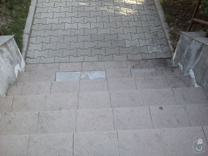 Oprava venkovních schodů: Schody2