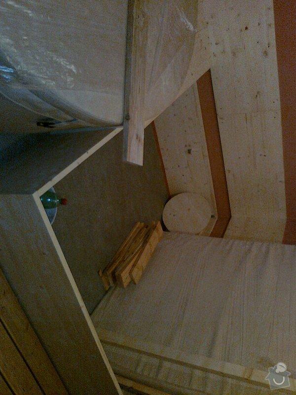 Obložení výřivky+výroba postele,obložení stěn,zalištování dveří: Fotografie0029
