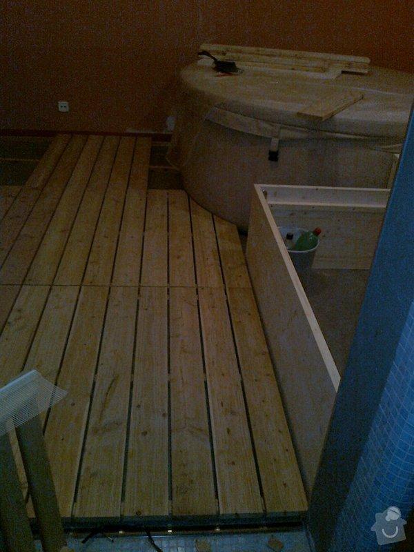 Obložení výřivky+výroba postele,obložení stěn,zalištování dveří: Fotografie0030