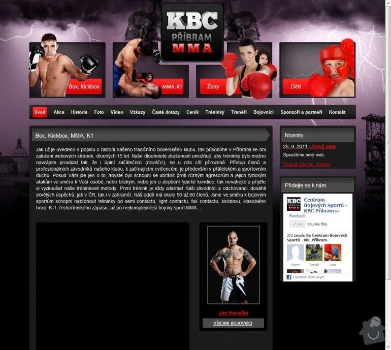 Tvorba stránek klubu www.kbcpribram.cz: 039-box-kickbox-mma-k1-kbc-pribram