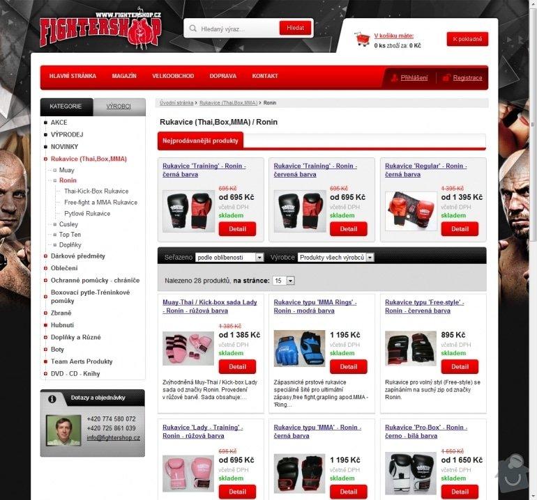 Tvorba e-shopu www.fightershop.cz: 051-ronin-rukavice-thai-box-mma-fightershop