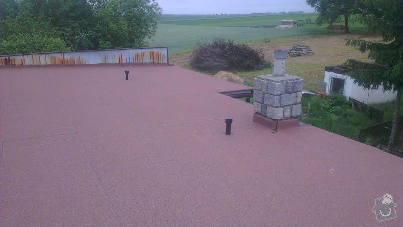 Zateplení ploché střechy foukanou izolací: IMAG0181