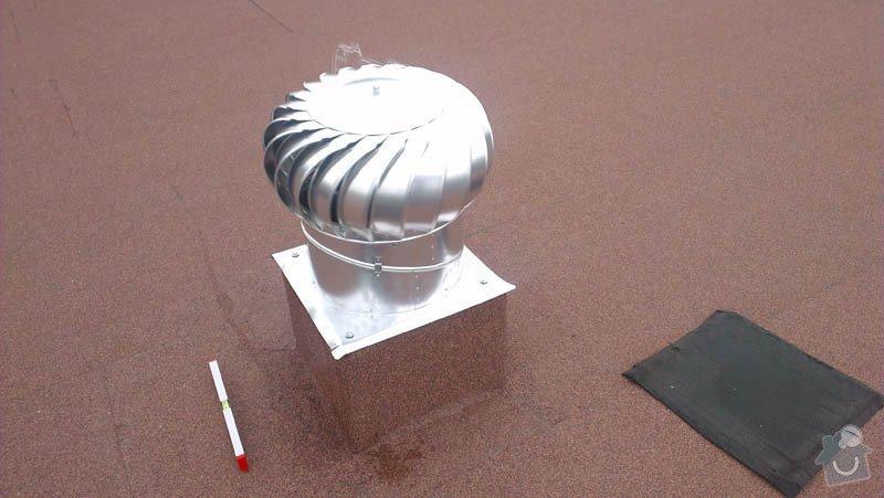 Zateplení ploché střechy foukanou izolací: IMAG0188