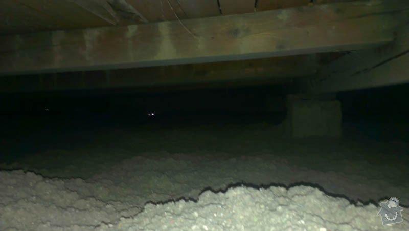 Zateplení ploché střechy foukanou izolací: IMAG0199