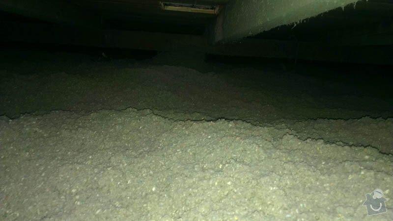 Zateplení ploché střechy foukanou izolací: IMAG0200