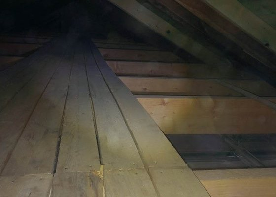Zateplení půdního bytu foukanou izolací Tempelan