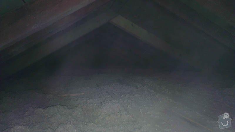 Zateplení půdního bytu foukanou izolací Tempelan: IMAG0232