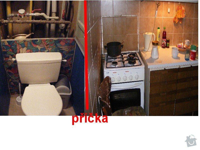 Připojit nové wc s odpadem a sprch.kout s odpadem: wc
