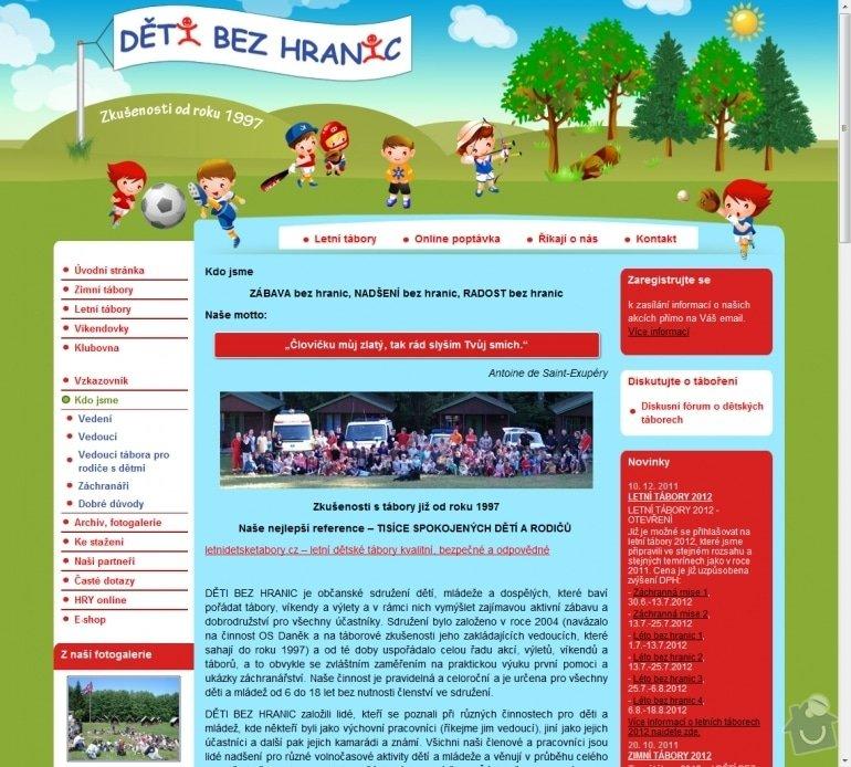Tvorba stránek pro Děti bez hranic : 010-detske-letni-tabory-2009-zimni-a-jarni-tabory-2009-akce-pro-deti-na-prazdniny-deti-bez-hranic
