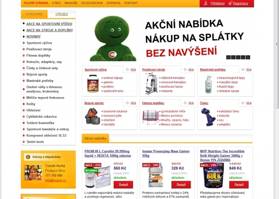 Tvorba e-shopu www.hsport.cz