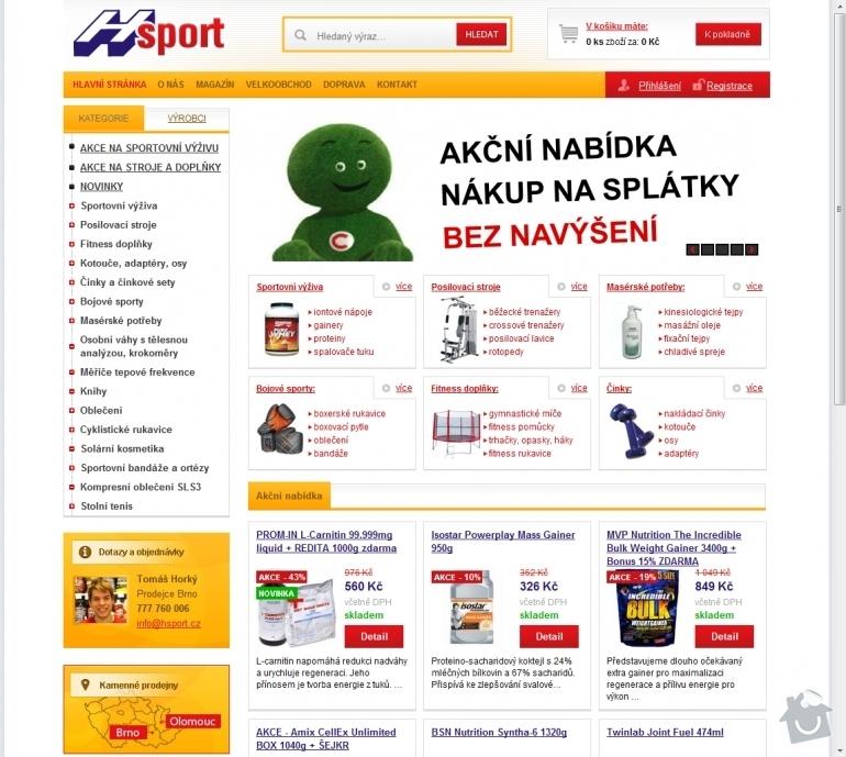 Tvorba e-shopu www.hsport.cz: 008-sportovni-vyziva-vybaveni-posiloven-doplnky-fitness-potreby-pro-masery-poradenska-a-konzultacni-cinnost-hsport